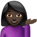 Person Tipping Hand: Dark Skin Tone on Apple iOS 10.3