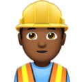 Man Construction Worker: Medium-Dark Skin Tone on Apple iOS 10.3