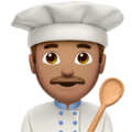 Man Cook: Medium Skin Tone on Apple iOS 10.3