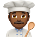 Man Cook: Medium-Dark Skin Tone on Apple iOS 10.3