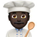 Man Cook: Dark Skin Tone on Apple iOS 10.3