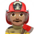 Man Firefighter: Medium Skin Tone on Apple iOS 10.3