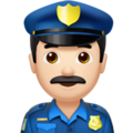 Man Police Officer: Light Skin Tone on Apple iOS 10.3