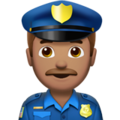 Man Police Officer: Medium Skin Tone on Apple iOS 10.3