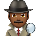 Man Detective: Medium-Dark Skin Tone on Apple iOS 10.3
