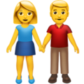 Man and Woman Holding Hands on Apple iOS 10.3
