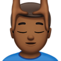 Man Getting Massage: Medium-Dark Skin Tone on Apple iOS 10.3