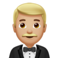 Man in Tuxedo: Medium-Light Skin Tone on Apple iOS 10.3