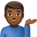 Man Tipping Hand: Medium-Dark Skin Tone on Apple iOS 10.3