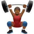Man Lifting Weights: Medium-Dark Skin Tone on Apple iOS 10.3