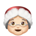 Mrs. Claus: Light Skin Tone on Apple iOS 10.3