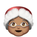 Mrs. Claus: Medium Skin Tone on Apple iOS 10.3