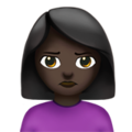 Person Pouting: Dark Skin Tone on Apple iOS 10.3