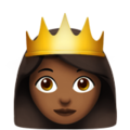 Princess: Medium-Dark Skin Tone on Apple iOS 10.3