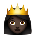 Princess: Dark Skin Tone on Apple iOS 10.3