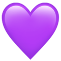 Purple Heart on Apple iOS 10.3