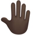 Raised Back of Hand: Dark Skin Tone on Apple iOS 10.3