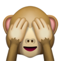 See-No-Evil Monkey on Apple iOS 10.3