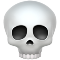 Skull on Apple iOS 10.3