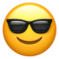 Smiling Face With Sunglasses on Apple iOS 10.3