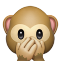 Speak-No-Evil Monkey on Apple iOS 10.3