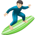 Person Surfing: Light Skin Tone on Apple iOS 10.3