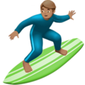 Person Surfing: Medium Skin Tone on Apple iOS 10.3