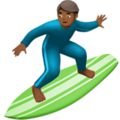 Person Surfing: Medium-Dark Skin Tone on Apple iOS 10.3