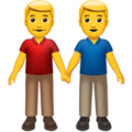 Two Men Holding Hands on Apple iOS 10.3