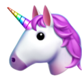 Unicorn Face on Apple iOS 10.3