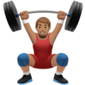Person Lifting Weights: Medium Skin Tone on Apple iOS 10.3