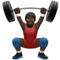 Person Lifting Weights: Dark Skin Tone on Apple iOS 10.3