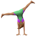 Woman Cartwheeling: Medium Skin Tone on Apple iOS 10.3