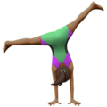 Woman Cartwheeling: Medium-Dark Skin Tone on Apple iOS 10.3