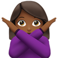 Woman Gesturing No: Medium-Dark Skin Tone on Apple iOS 10.3