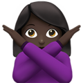 Woman Gesturing No: Dark Skin Tone on Apple iOS 10.3