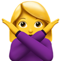 Woman Gesturing No on Apple iOS 10.3
