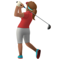 Woman Golfing: Medium Skin Tone on Apple iOS 10.3