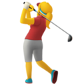 Woman Golfing on Apple iOS 10.3