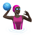 Woman Playing Water Polo: Dark Skin Tone on Apple iOS 10.3