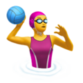 Woman Playing Water Polo on Apple iOS 10.3