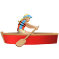 Woman Rowing Boat: Medium-Light Skin Tone on Apple iOS 10.3