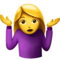 Woman Shrugging on Apple iOS 10.3