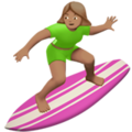 Woman Surfing: Medium Skin Tone on Apple iOS 10.3