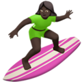 Woman Surfing: Dark Skin Tone on Apple iOS 10.3