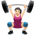 Woman Lifting Weights: Light Skin Tone on Apple iOS 10.3