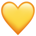 Yellow Heart on Apple iOS 10.3