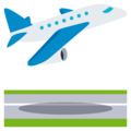 Airplane Departure on EmojiOne 3.1