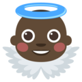 Baby Angel: Dark Skin Tone on EmojiOne 3.1
