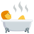 Person Taking Bath on EmojiOne 3.1